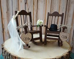chair cake topper rocking chair etsy