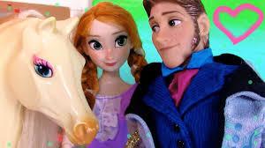 disney frozen series prince hans princess anna horse stables