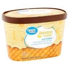 great value banana pudding ice cream 48 oz walmart com