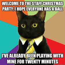 Christmas Party Meme - welcome to the staff christmas party cat meme cat planet cat planet