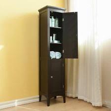 Lakeside Tall Storage Cabinet Wooden Bath Caddies U0026 Bathroom Storage Equipment Ebay