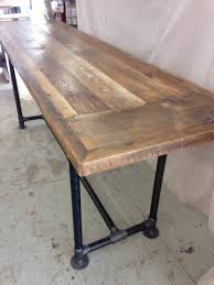 8 Foot Sofa Table Reclaimed Wood Dining Table Industrial Pipe Leg Table 6 Foot