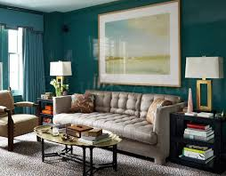 deep teal lacquer walls matching teal pelmets and drapes leopard