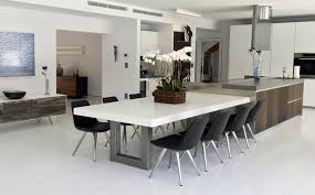 concrete and wood dining table custom concrete kitchen dining tables trueform concrete