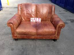 distressed leather chesterfield sofa chesterfield distressed tan leather 2 seater sofa settee tan brown