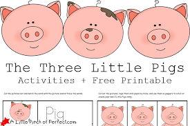 3 pigs role play masks pk literacy role