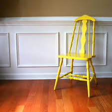 Rustic Country Home Decor Rustic Yellow Wood Chair Vintage Spring Country Home Decor Old