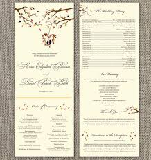 fall wedding programs best 25 wedding program sles ideas on how to word