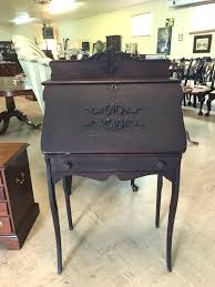 Antique Spinet Desk Approx 1890 1920 Oak Lady U0027s Desk Slant Front U2013 Jenkins Antiques