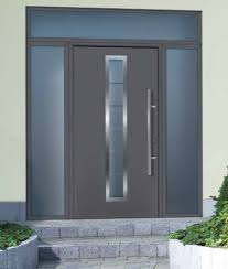 contemporary exterior doors tps100 front door with lpu40 m panel