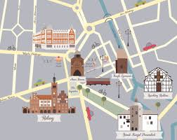 Map Poland Słupsk My First Illustrated Map See U In Poland