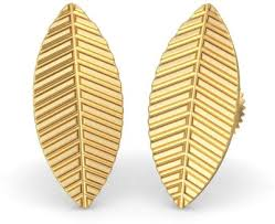 bluestone earrings bluestone the gold leaf 22 k gold stud earring for rs 4 691 at