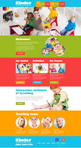 responsive web design layout template kids center responsive website template 48443