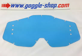 100 percent motocross goggles goggle shop drilled roll off lens blue tint to fit 100 motocross