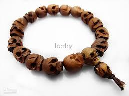 skull bracelet bead images Natural wood skull beads buddhist prayer mala bracelet wood skull jpg