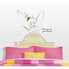18 in x 40 in winnie the pooh tigger 11 piece peel and stick 18 in x 40 in disney fairies tinkerbell headboard 7 piece