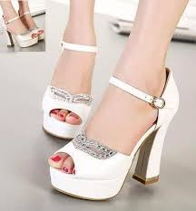 wedding shoes chunky heel rhinestone fox mask bridal heels white heel ivory shoes
