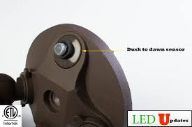 led dusk to dawn security light ledupdates dusk to dawn photocell led outdoor wall pack security
