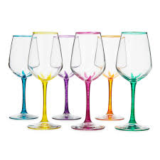 wine glasses flower stemmed wine glasses set of 6 painted wine glasses
