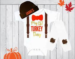 baby boy thanksgiving personalized thanksgiving