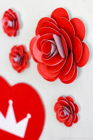 Paper Roses How To Make Easy Paper Roses Printable Crush