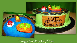 angry birds pool party cake cakecentral com