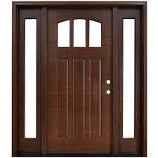 Exterior Doors Wooden Craftsman Wood Doors Front Doors The Home Depot