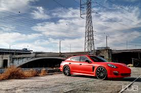 porsche panamera matte red dub magazine yg rollin on forgis