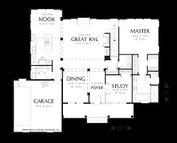 Floor Plan With Garage Mascord House Plan 22121 The Everly