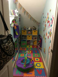 baby playroom made from closet under stairs rozalynn pinterest