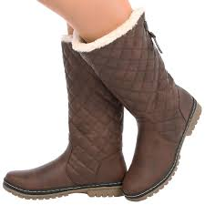 womens boots quilted womens fur lined quilted moon ski winter boots