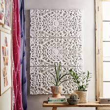 lennon maisy ornate wood carved wall set of 3 pbteen