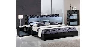 Bed Sets Black Black Bedroom Set Led 5pc Global Furniture
