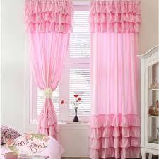 Light Pink Curtains For Nursery by Light Pink Ruffle Shower Curtain Curtain Menzilperde Net