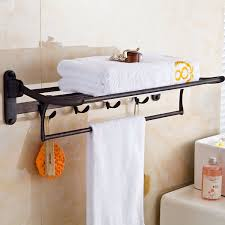 amazon com rozin bath towel holder wall mount folding towel rack