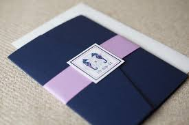 pocket fold nautical pocket fold invitation navy and pink