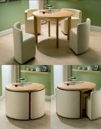 Circle Dining Table And Chairs Dining Table Chairs For Small Homes Space Saving Table