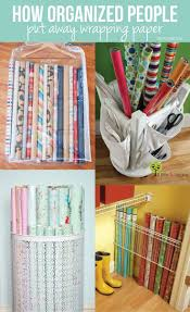 how to store wrapping paper how organized put away wrapping paper cleaning