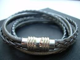 leather bracelet magnetic images Womens leather bracelets urbansurvivalgearjewelry artfire shop jpg