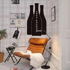 online get cheap wine wall stickers aliexpress alibaba group individuality removable and waterproof black chalkboard wine bottle self adhesive vinyl wall sticker china