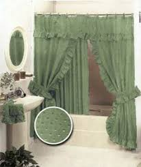 Swag Shower Curtain Sets Double Swag Shower Curtain With Valance Double Swag Shower