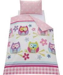 chad valley owl duvet cover set toddler home decor