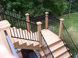 Patio Handrails by Stair Railing Over Wood Iron Rod Covers Home Design By Larizza