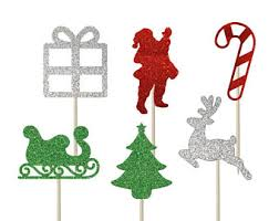Vintage Christmas Cake Decorations Reindeer by Reindeer Cupcake Etsy