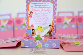 tinkerbell invitations door sign banner table center pieces and