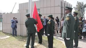 le siege de l ua le drapeau marocain hissé au siège de l ua afrique