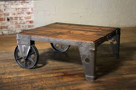 Industrial Rustic Coffee Table Iron And Wood Coffee Table S Reclaimed Wood Industrial Rustic