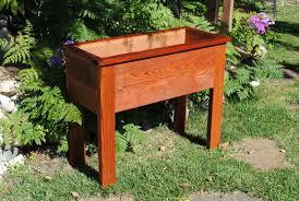 Redwood Patio Table 1 U0027x3 U0027 Raised Planter The Redwood Patio