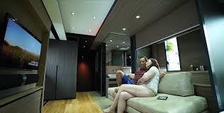 Living Room Furniture Hong Kong Tiny Transforming Home In Hong Kong Makes 309 Square Feet Feel