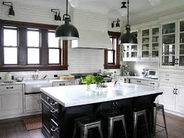 Subway Tiles Kitchen Backsplash Ideas Kitchen White Kitchen Cabinet Hanging Lamps Cozy Kitchen Modern